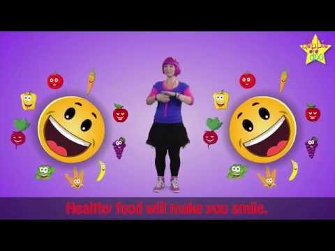 The Healthy Food Song with Animation and Sing Along Lyrics!