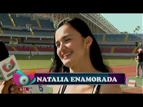 Natalia Álvarez, muy enamorada