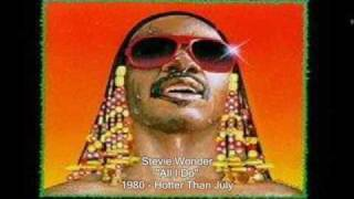 Video All i do Stevie Wonder
