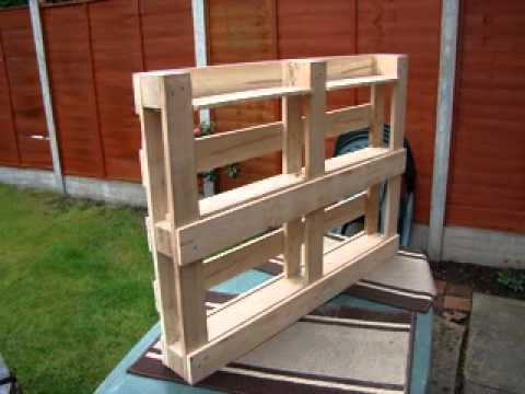 How to build bookshelf from pallets - YouTube
