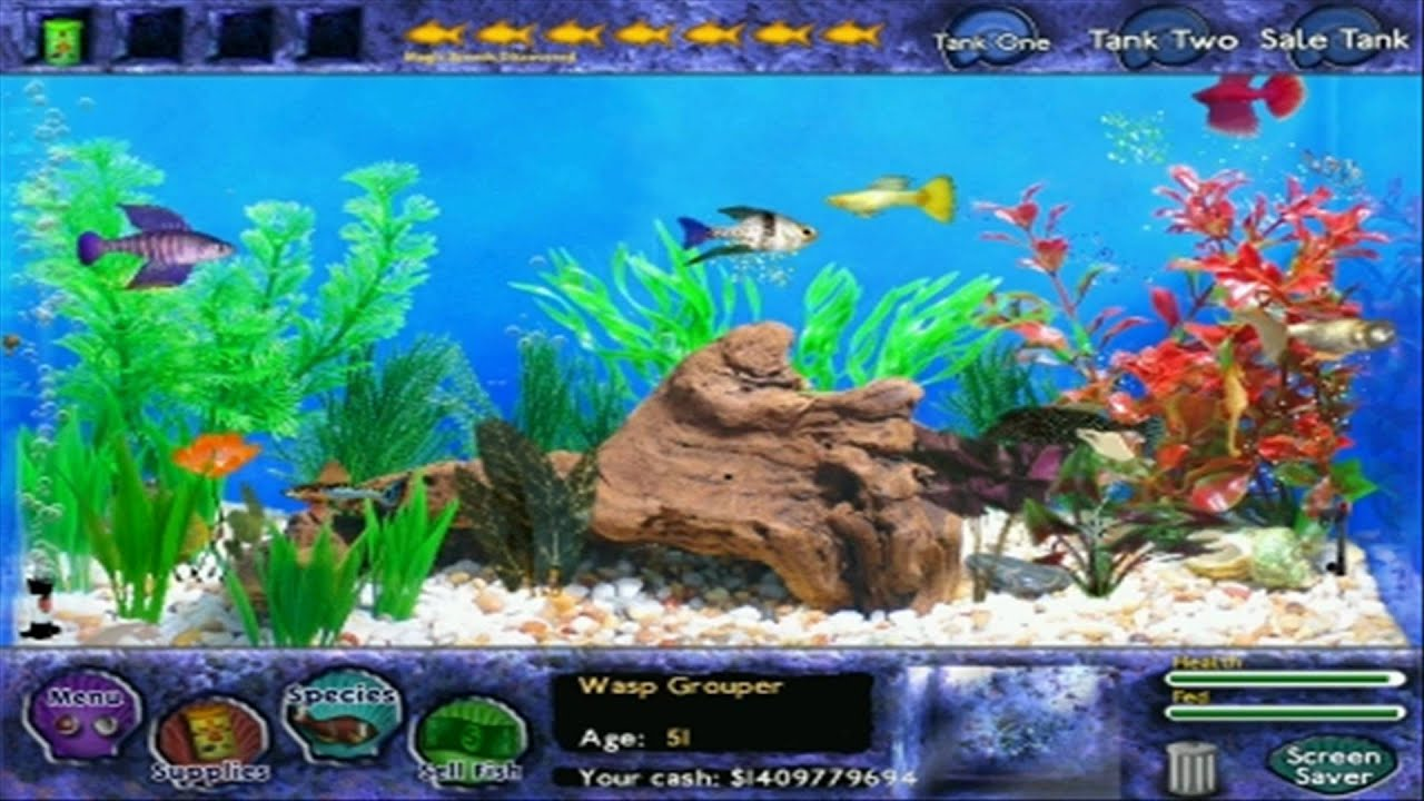 Fish tycoon all magic fish youtube for The magic fish