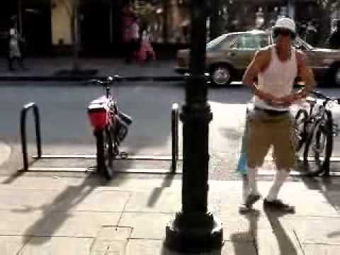 {RARE} Chris Rene Video, Dancing on the streets in Santa Cruz California - X-Factor 2011 USA