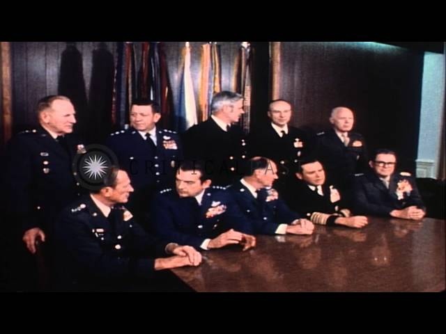 Joint Chiefs of Staff pose for a formal portrait in Washington D.C., United State...HD Stock Footage