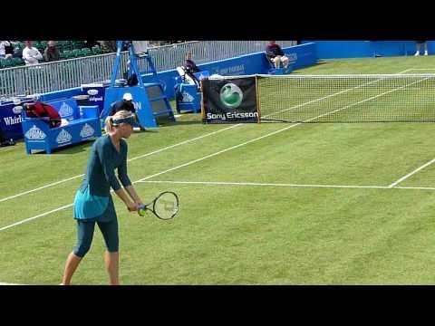 シャラポワ vs. Dubois (last 2 points) Aegon Classic 2009