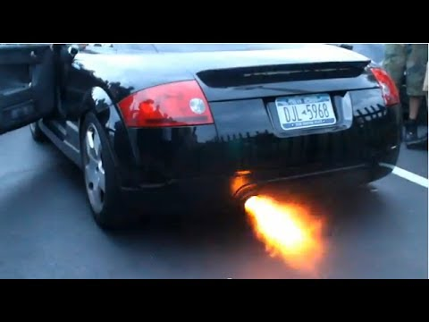 Audi TT Straight pipe Exhaust sound