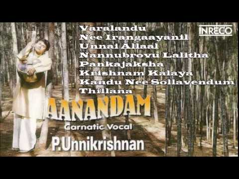 Carnatic Vocal | Aanandam | P. Unnikrishnan | Jukebox video