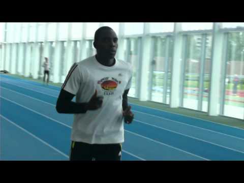 London2012 - Cameroun 100m Sprint runner Adama Idrissa training Part2