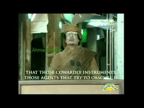 Muammar Gaddafi - 22nd February 2011 (English) - PT 1