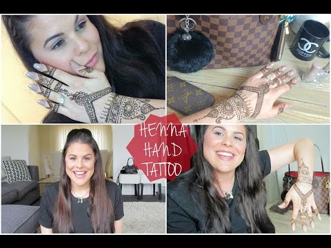 Henna Hand Tattoo Tutorial