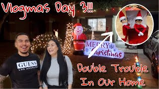 Our Christmas Lights Are Finally Up!!! Vlogmas Day 3