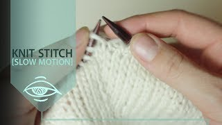 How to knit [SLOW MOTION]