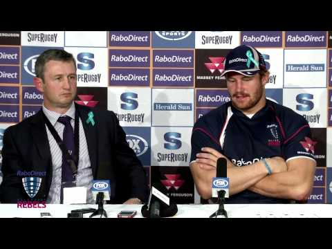 Rebels vs Stormers Rd.14 Post match Press Conference | Super Rugby Video