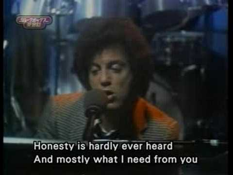 BILLY JOEL HONESTY KARAOKE