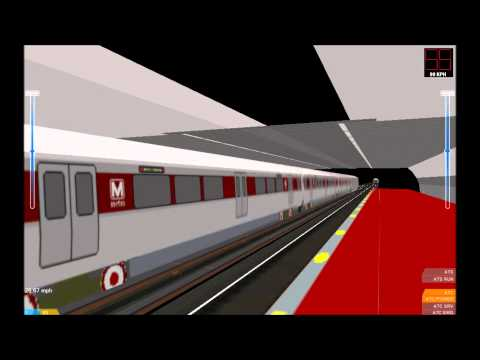 OpenBVE HD: WMATA Red Line Route and Train Pack Version 1.8b Final Release Video (12/25/13)