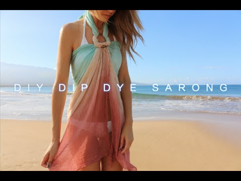 DIY Dip Dye Sarong (Turquoise/Rust)