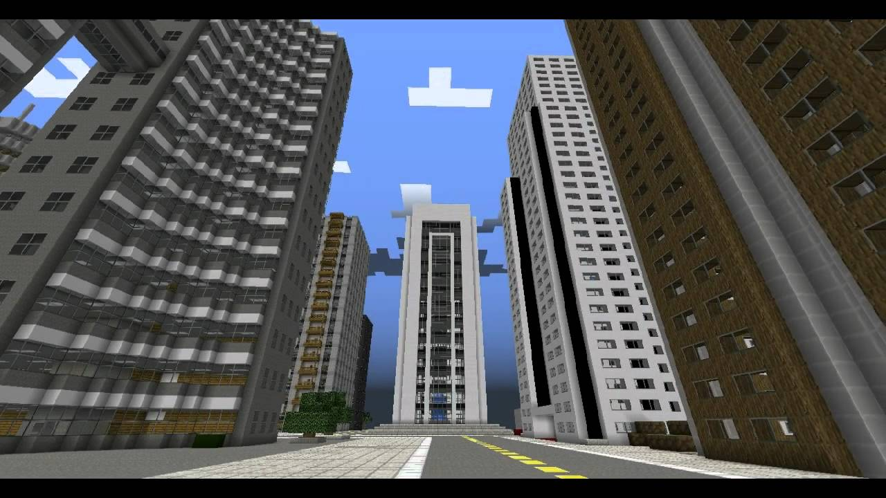 Modern minecraft skyscraper city 1 2 5 ready youtube