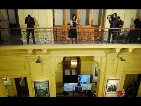 14 de AGO. La Presidenta le habló a la militancia en Casa de Gobierno.