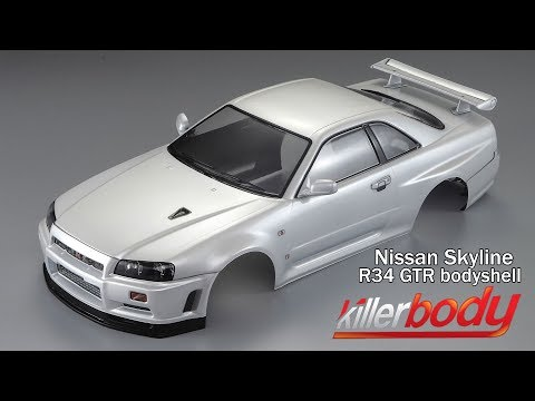 Killerbody R34 Bodyshell Unbox & Review