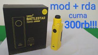 unboxing smoant battlestar nano rda kit 80w I mod kit paling murah!!!