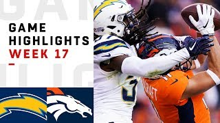 Chargers vs. Broncos Week 17 Highlights | NFL 2018