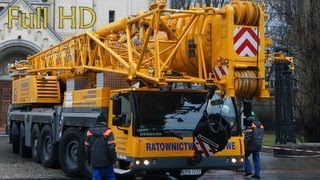 LIEBHERR - Giant Crane and Extreme Surgery - Lodz Poland