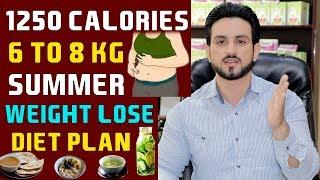 Summer 6 to 8 Kg Extreme Weight Loss Diet Plan Hindi/Urdu