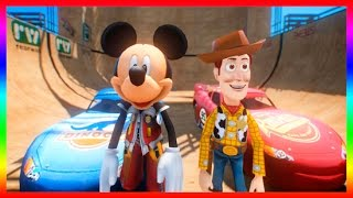 Disney Pixar Cars Dinoco Lightning McQueen Toy Story Sheriff Woody and Mickey Mouse HD