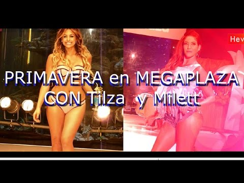 Tilsa Lozano Y Milett Figueroa En El Megaplaza / Primavera Verano 2015