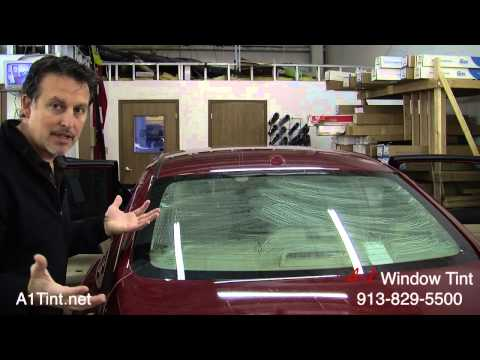 Window Tinting (DIY: How to tint auto back glass)
