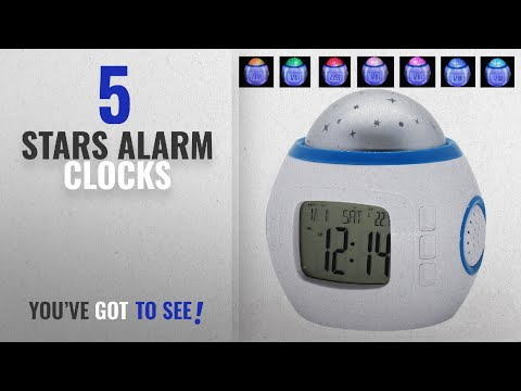 Top 10 Stars Alarm Clocks [2018 ]: Clocks for Kids Music Star Sky Projection Alarm Clock for Bedroom