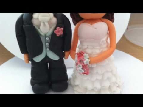 Bride And Groom Gumpaste Edible Cake Toppers Youtube