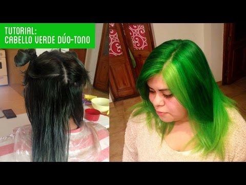 Como decolorar pelo negro y teñir el PELO VERDE TUTORIAL! Otowil / Directions en casa