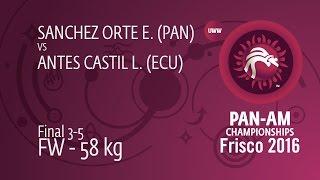 BRONZE FW - 58 kg: L. ANTES CASTIL (ECU) df. E. SANCHEZ ORTE (PAN) by FALL, 4-0