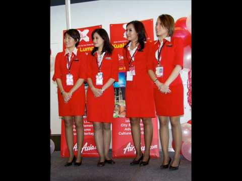 Sexy Air Asia and Malaysia Airlines Stewardess