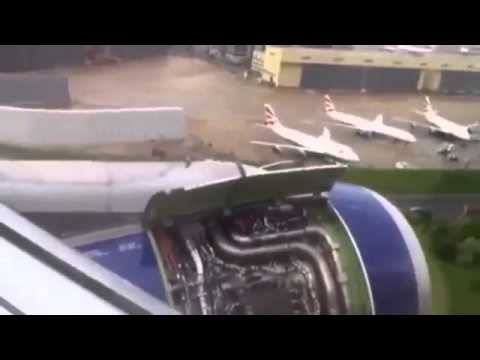 [RAW] British Airways Plane Engine Catches Fire At Heathrow Airport - 24 May 2013