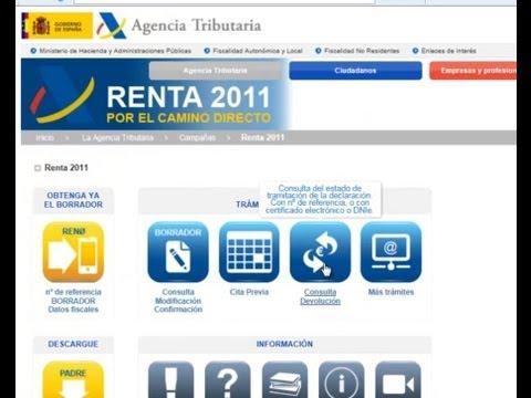Consulta devolución de la renta 2011