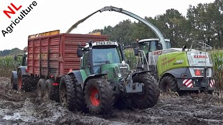 Claas Jaguar 950 | Harvesting mais in extreme mud | 6 Fendts | Blankespoor | NL | 2014.