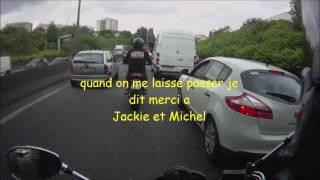 #course poursuite moto taxi/ motard fan de jaquie et michel/ ptit ride avec la team