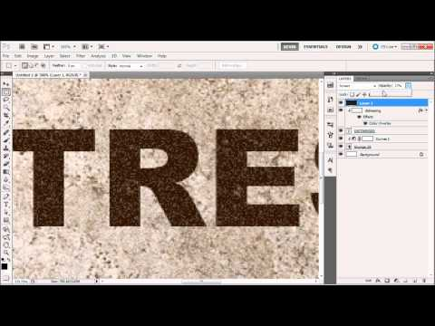 Photoshop Tutorial: Distressed and Grungy Text  -HD