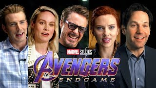 AVENGERS: ENDGAME Full Cast Interview (2019) Marvel