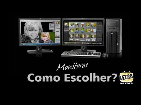 Como Escolher Seu Monitor - Letra na Foto