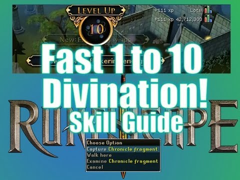 RuneScape Divination level 1 to 10 Skill Guide!