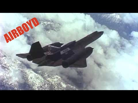 SR-71 LASRE in flight over Mojave Desert - no audio Video