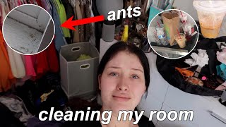 FINALLY Cleaning My DISGUSTING Room | Clean With Me