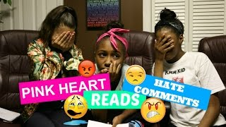 Pink Heart Reads Hate Comments!