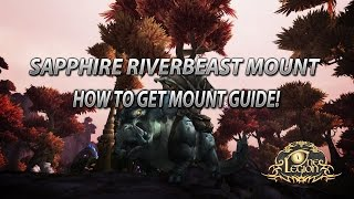How To Get Sapphire Riverbeast Mount Guide - Silthide Rare Spawn Time and Location