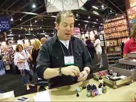 Tim Holtz Demoing Snow Cap Alcohol Ink at CHA Summer 2011