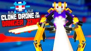 Defeating the Deadly Lazer Challenge In Clone Drone In The Danger Zone
