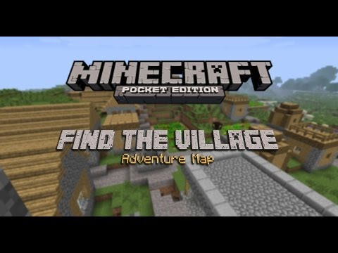 Minecraft PE Find the Village Adventure Map