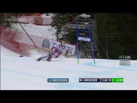 Riesenslalom Garmisch Partenkirschen, 2. Lauf, Marcel Hirscher in Zeitlupe